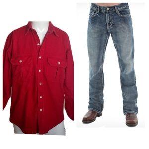 Vintage Cabelas Outdoor GearRed Long Sleeve Shir
